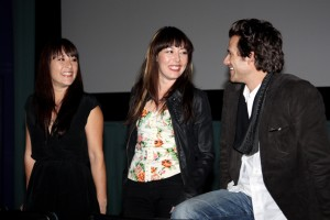 Athena Lobit, Alyssa Lobit & Johnny Whitworth at the Q&A